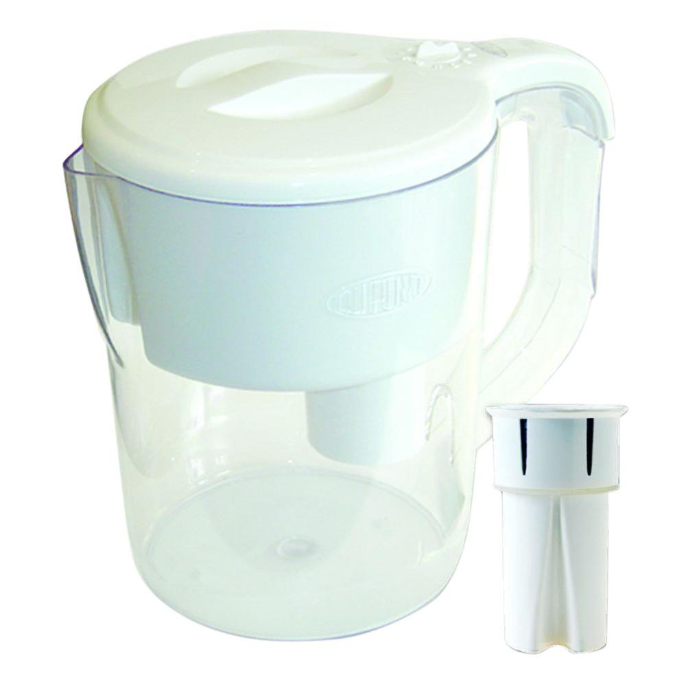 Dupont Traditional 8 Cup Water Filter Pitcher in White, W...
