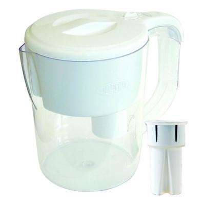 Traditional 8 Cup Water Filter Pitcher in White