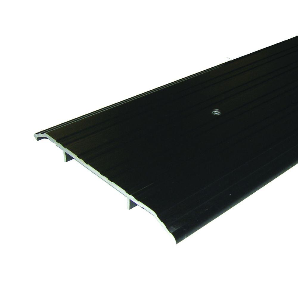 M-D Building Products Fluted Saddle 6 in. x 25-1/2 in. Bronze Aluminum Commercial Threshold