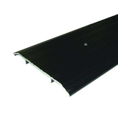 Fluted Saddle 6 in. x 42 in. Bronze Aluminum Commercial Threshold