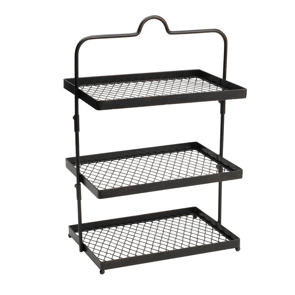 3-Tier Sierra Carbon Steel Adjustable Buffet Stand