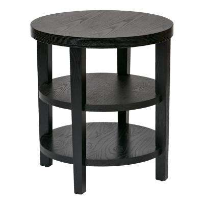 Merge 20 in. Black Round End Table