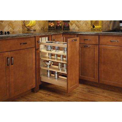 25.5 in. H x 9.5 in. W x 21.62 in. D Pull-Out Wood Base Cabinet Organizer with Soft-Close Slides