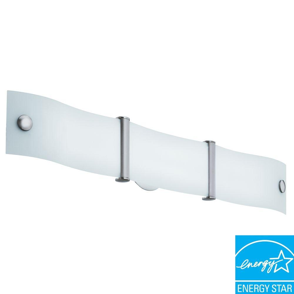 Wing 2-Light Brushed Nickel Fluorescent Vanity Fixture