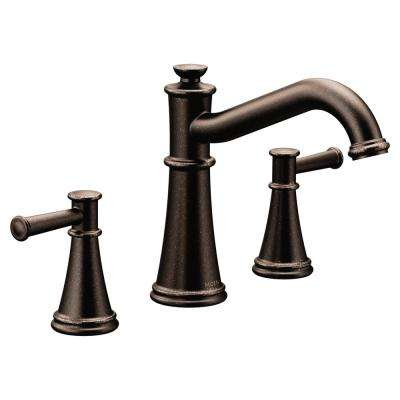 Belfield 2-Handle Deck-Mount Roman Tub Faucet in Oil Rubbed Bronze (Valve Not Included)