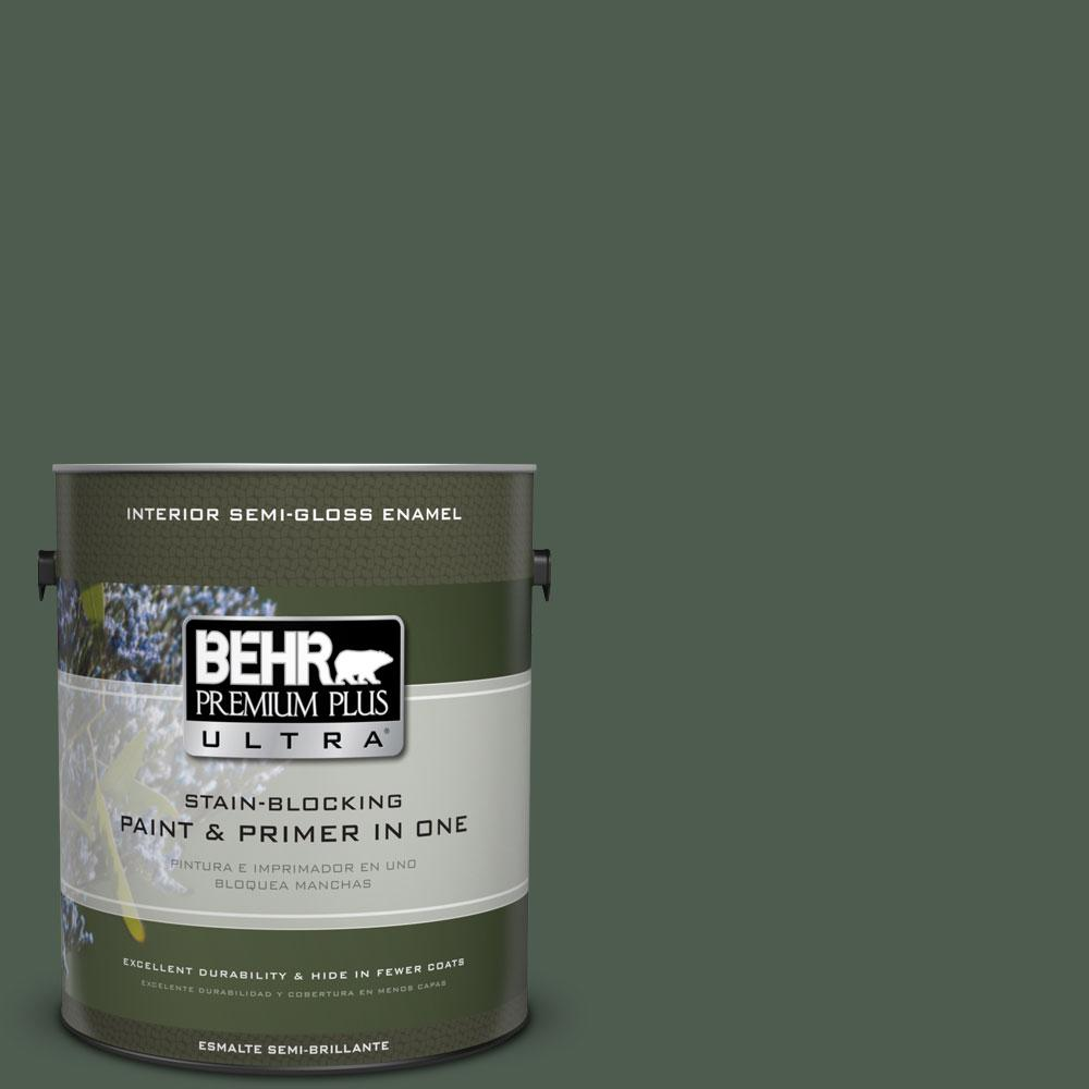 1 gal. #ECC-21-3 Imperial Palm Semi-Gloss Enamel Interior Paint and Primer