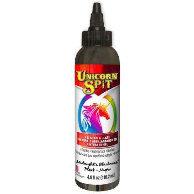 4 fl. oz. Midnight's Blackness Gel Stain and Glaze Bottle (6-Pack)