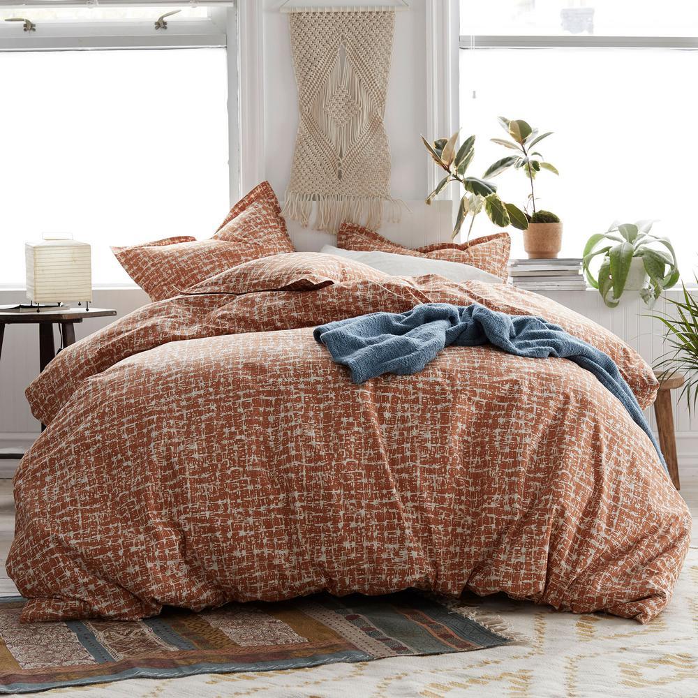 Cstudio by The Company Store Brexton 3-Piece 200-Thread Count Cotton Percale