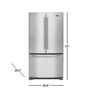 bdc35cae5e6 Maytag 20 cu. ft. French Door Refrigerator in Fingerprint Resistant ...