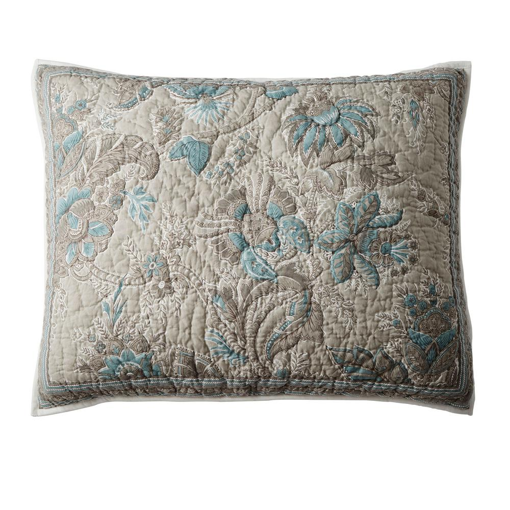 The Company Store Alexandra Multicolored Botanical Textured Cotton Standard Sham was $58.99 now $34.99 (41.0% off)