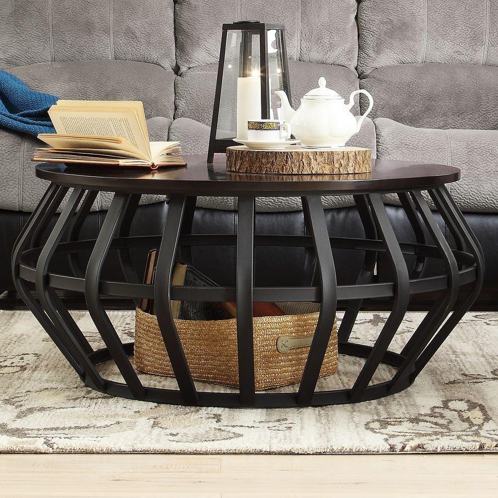 HomeSullivan Pollard Black Coffee Table-40E691-30T3ACT