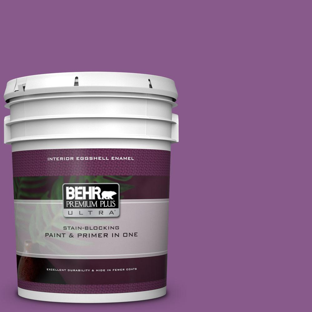 BEHR Premium Plus Ultra 5 gal. #670B-7 Candy Violet Eggshell Enamel Interior Paint and Primer in One