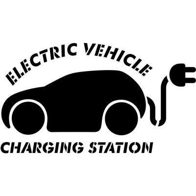 24 in. Electric Vehicle Charging Station Stencil