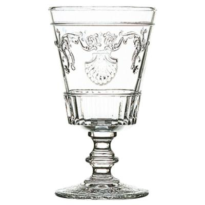 Versailles 13.5 oz. Shell/Flower Design Water Glass (Set of 6)