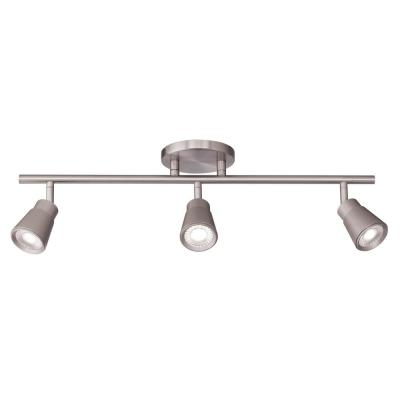 Solo 24 in. 3-Light Brushed Nickel LED ENERGY STAR Fixed Track Lighting Kit, 3000K