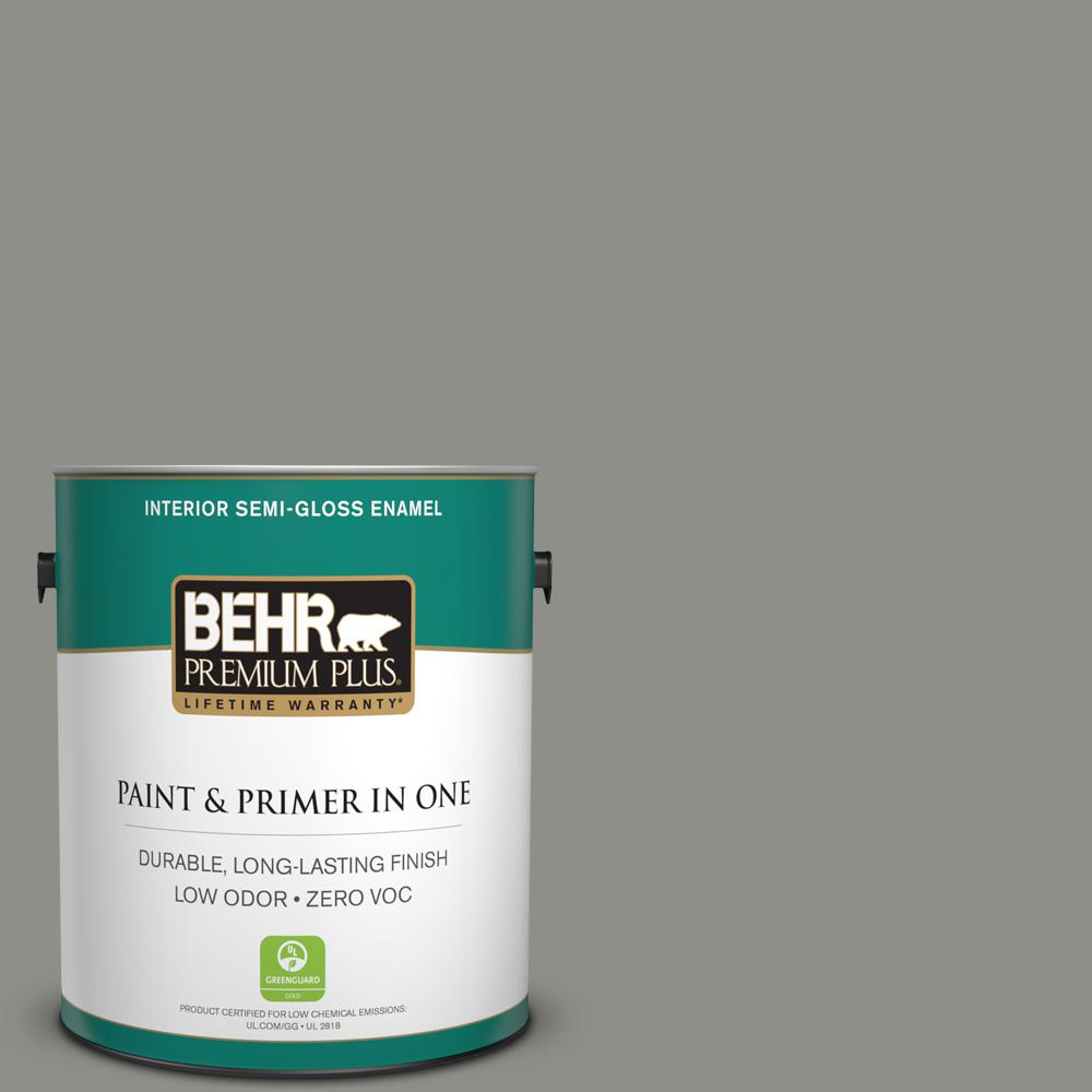 Home Decorators Collection 1-gal. #HDC-AC-19 Grant Gray Zero VOC Semi-Gloss