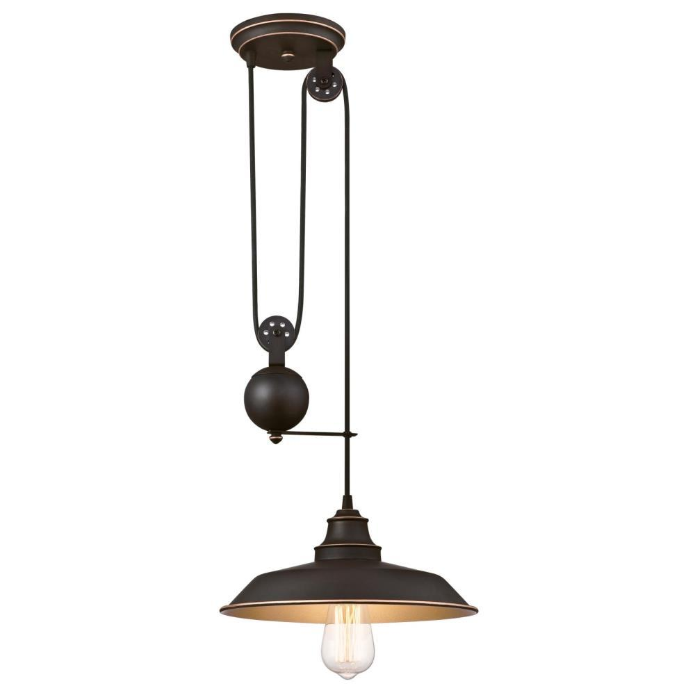 Westinghouse Iron Hill Pendant: Westinghouse Iron Hill 1-Light Oil Rubbed Bronze With