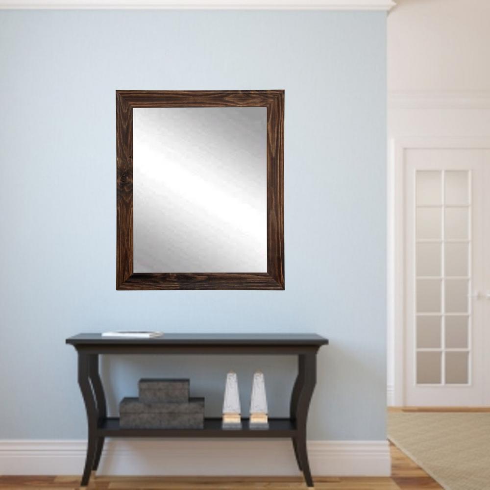 Rustic Espresso Framed Mirror-BM017S - The Home Depot