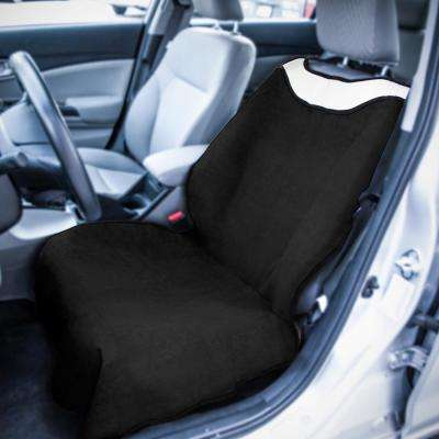 Polyester Seat Covers 27 in. L x 21 in. W x 50.5 in. H Sweat Towel Seat Cover Black