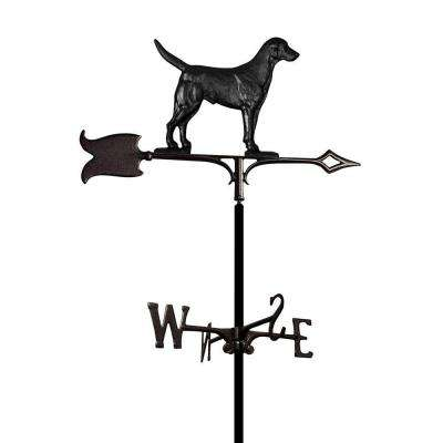 Garden Black Lab Weathervane