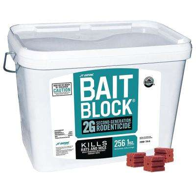16 lbs. Bait Block 2G Second Generation Rodenticide Bait for Rats and Mice Pail