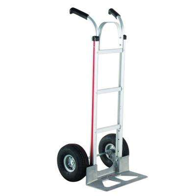 500 lb. Capacity Aluminum Modular Hand Truck with Double Grip Handles and Pneumatic Wheels
