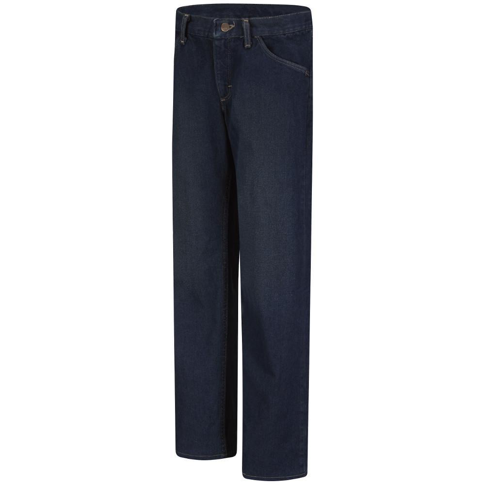 EXCEL FR Women's 18 in. x 30 in. Sanded Denim Straight Fit Sanded Denim Jean