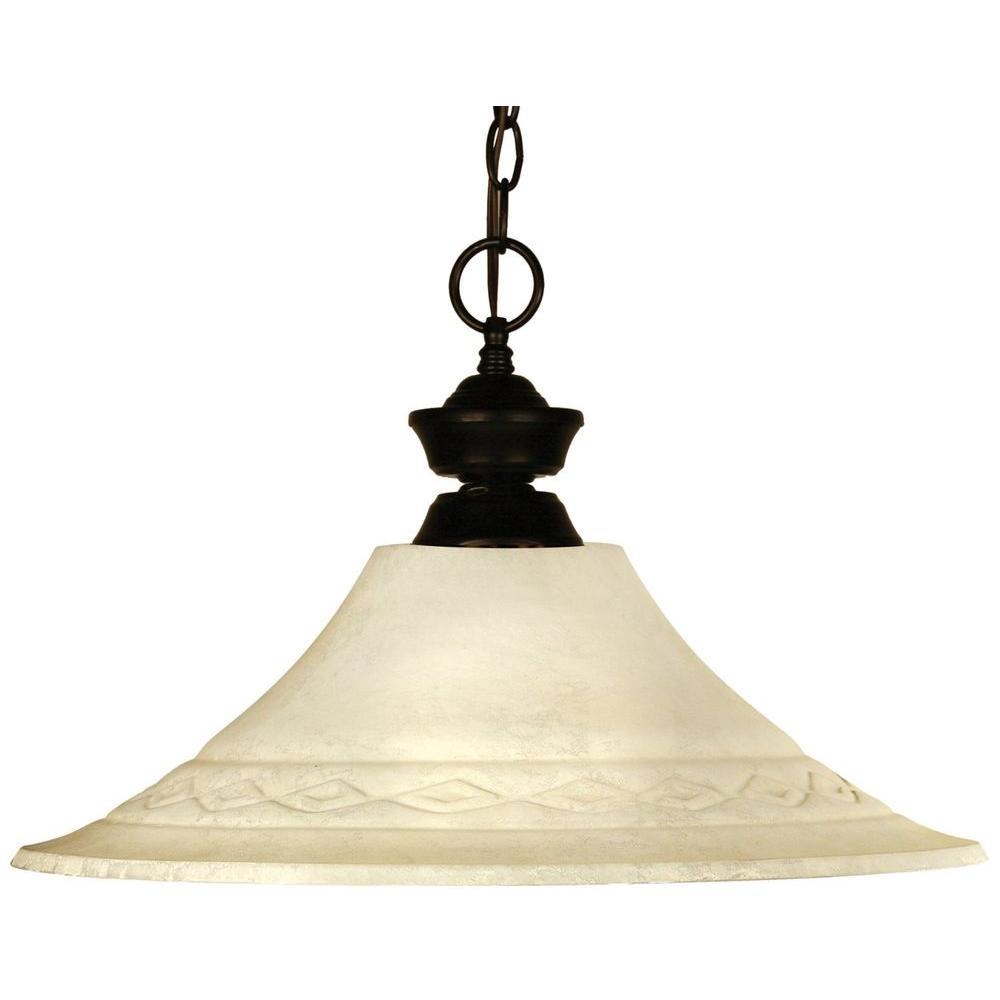 Lawrence 1-Light Bronze Incandescent Ceiling Pendant