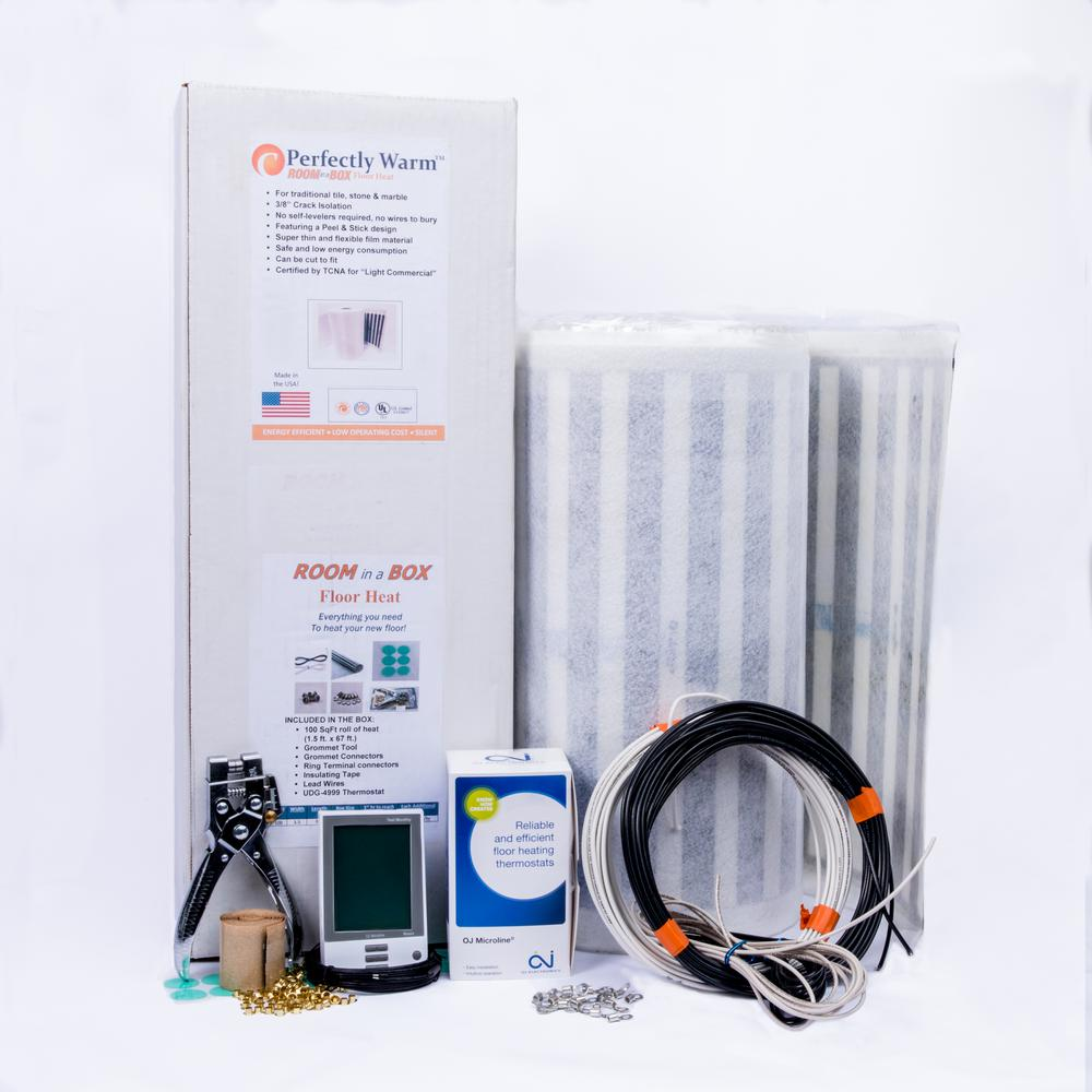 FloorHeat Room in a Box 68 ft. x 18 in. Anti-Fracture Heat Film Radiant Floor Heating System