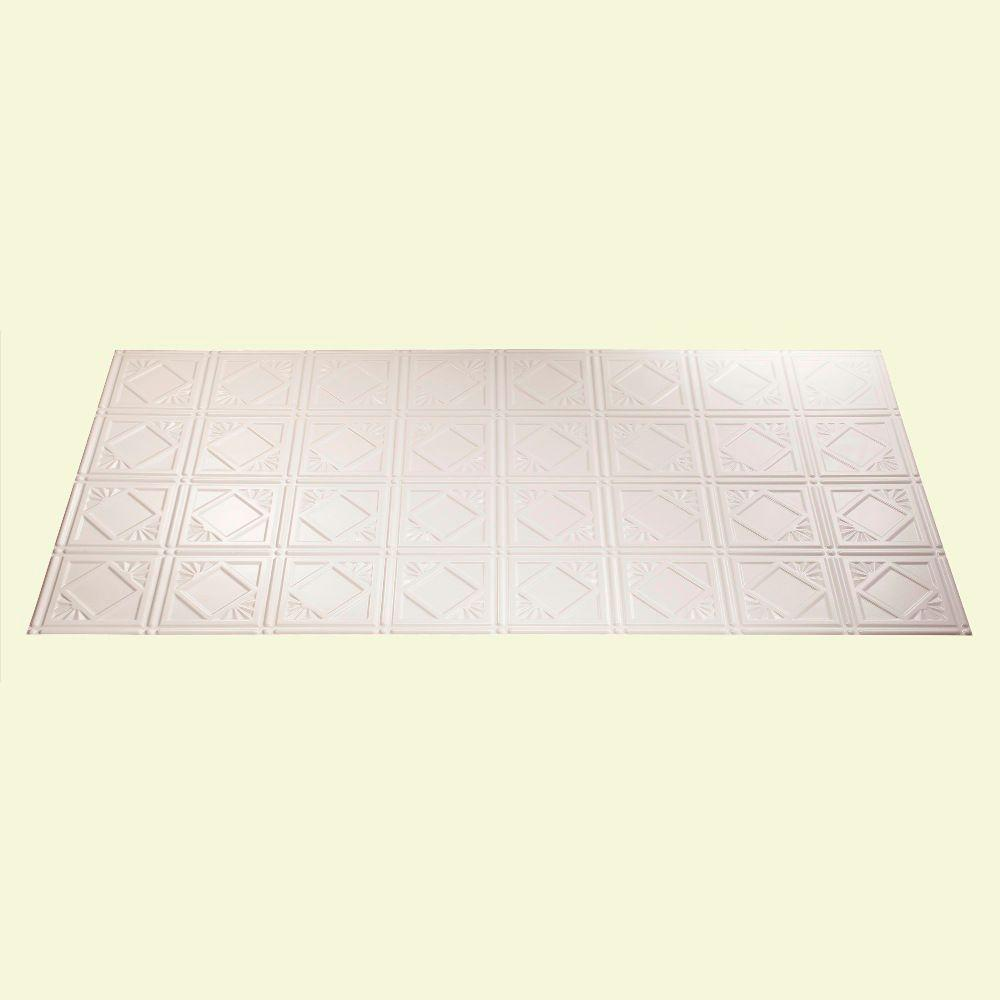 Fasade Traditional 4 2 ft. x 4 ft. Gloss White Lay-in Ceiling Tile