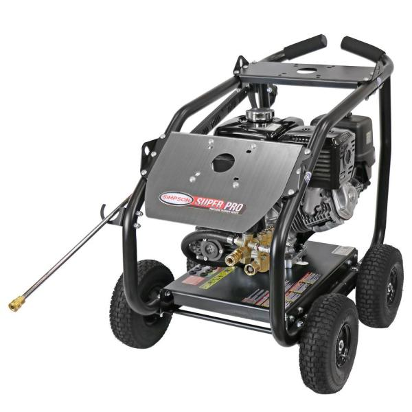 Super Pro Roll-Cage 4200 PSI at 4.0 GPM HONDA GX390 with AAA Triplex Pump Cold Water Belt Drive Gas Pressure Washer