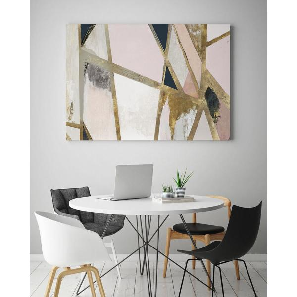 Clicart 24 In X 18 In Warm Geometric Ii Blush Version By Pi Studio Wall Art Pipg338 2418mm The Home Depot