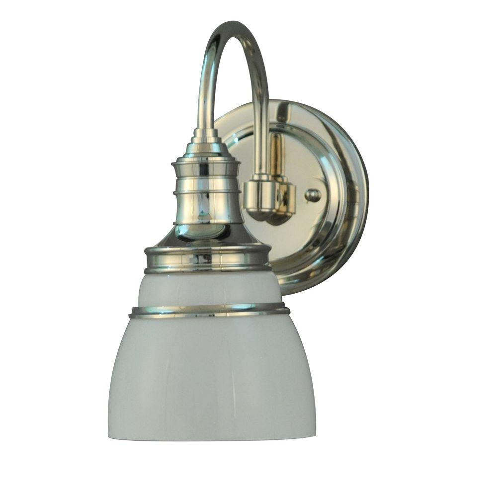 Martha Living Seal Harbor Collection 1 Light Polished Nickel Plated Wall Sconce