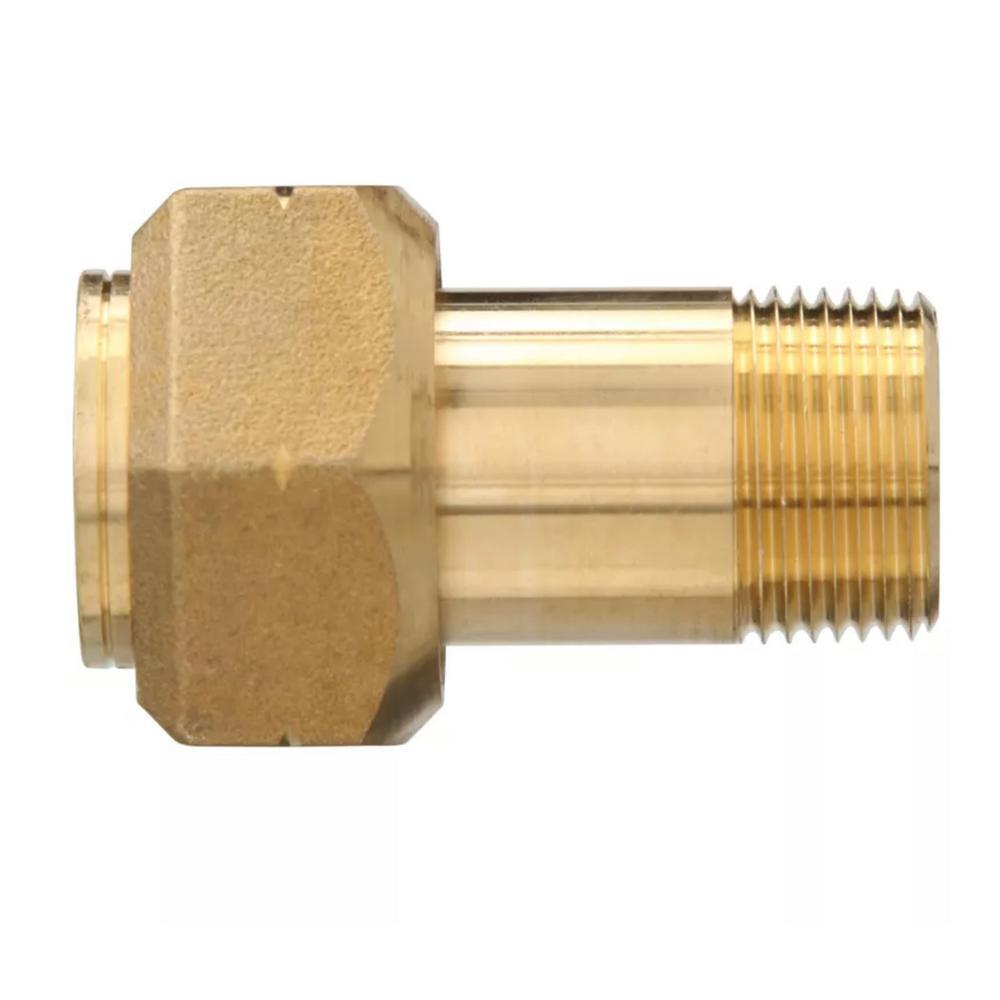 Lead-Free Brass Pipe Water Meter Adapter 1 in. FIP x 3/4 in. MIP