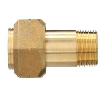 Lead-Free Brass Pipe Water Meter Adapter 1 in. FIP x 3/4 in. MIP