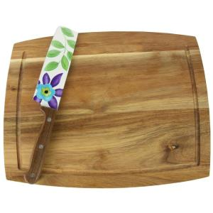 Click here to buy LAURIE GATES Daisie 2-Piece Nakiri Knife and Cutting Board Set by LAURIE GATES.