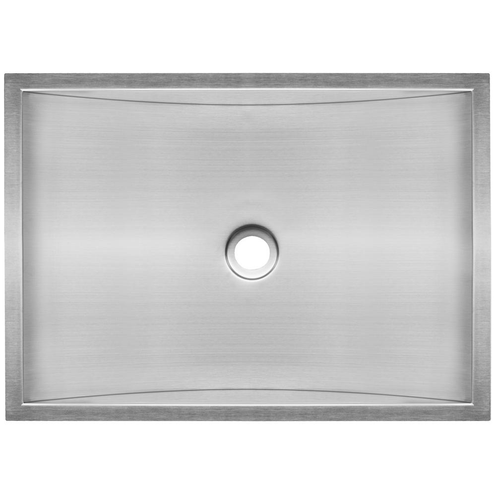 18 Gauge Stainless Steel Undermount Vanity Sink Basin In Satin