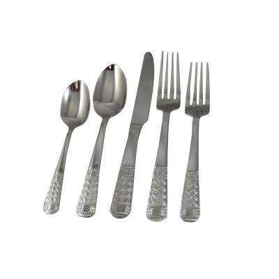 Grecian 20-Piece Stainless Steel Flatware Set