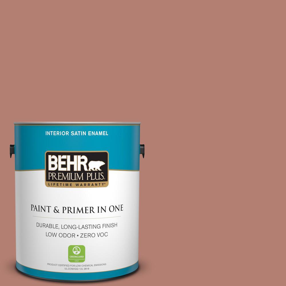 BEHR Premium Plus 1-gal. #ICC-102 Copper Pot Zero VOC Satin Enamel Interior Paint