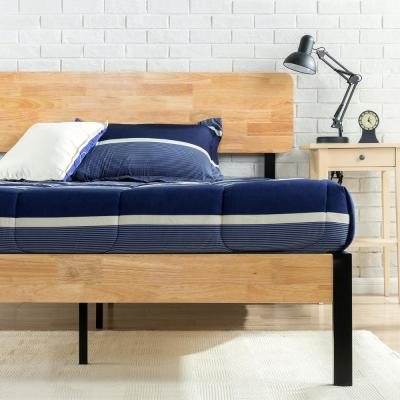 Olivia Metal and Wood Platform Bed Frame, King