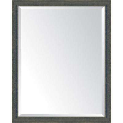 25 in. x 31 in. Framed Indigo Mirror