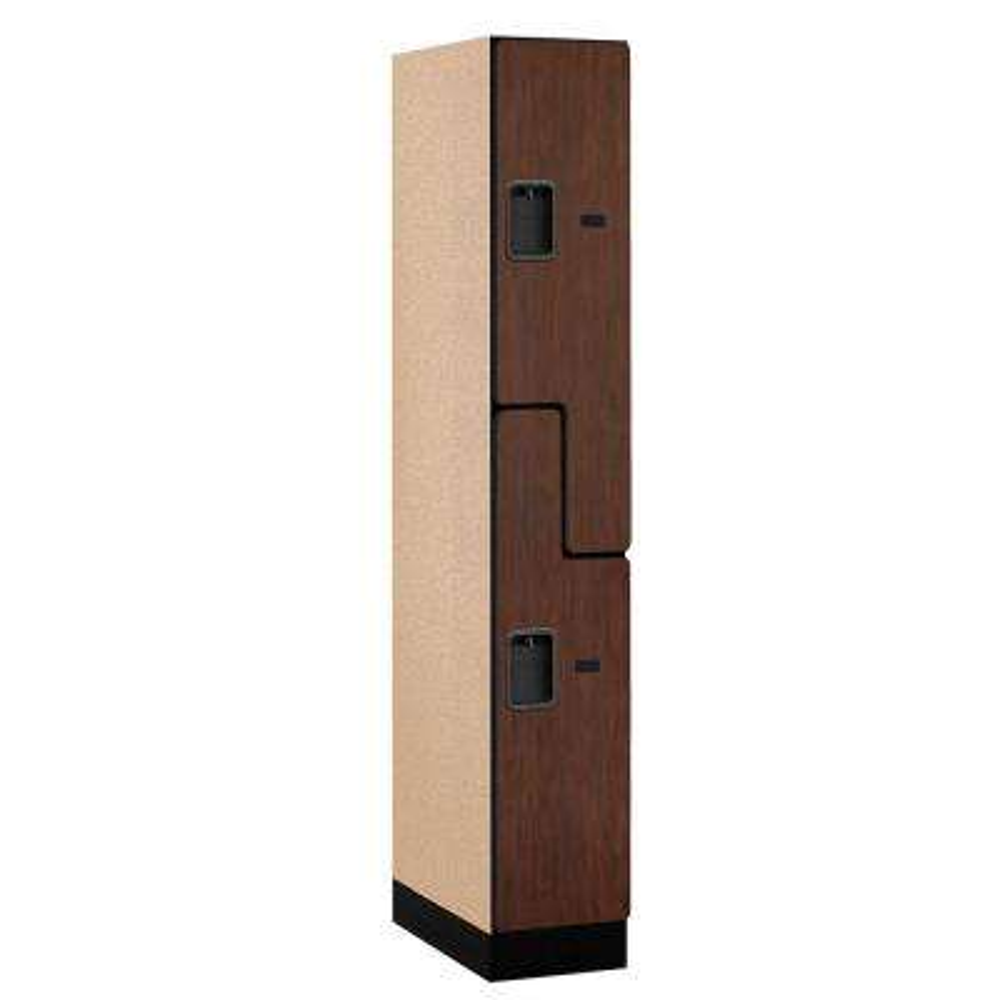 37000 Series 12 in. W x 76 in. H x 21 in. D 2-Tier S-Style Designer Wood Locker in Mahogany