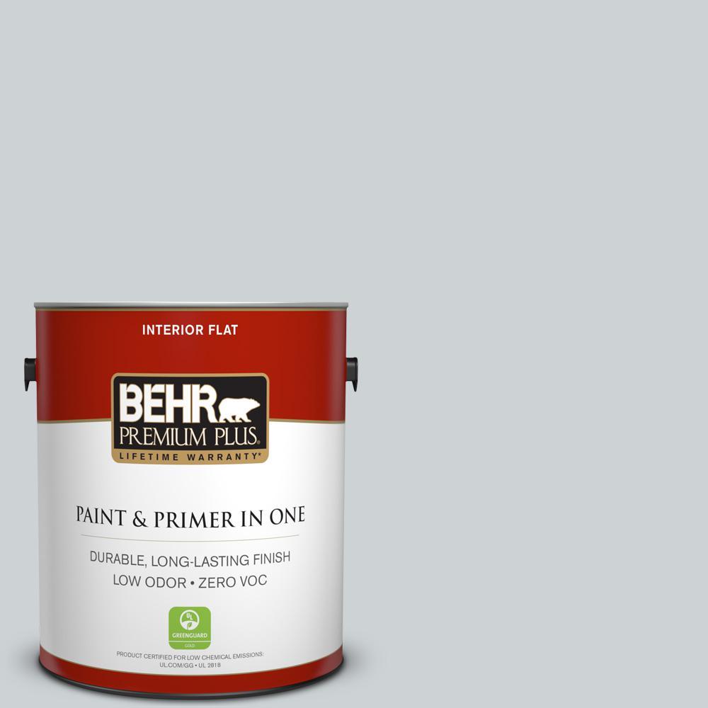 BEHR Premium Plus 1-gal. #N510-1 Silver Shadow Flat Interior Paint