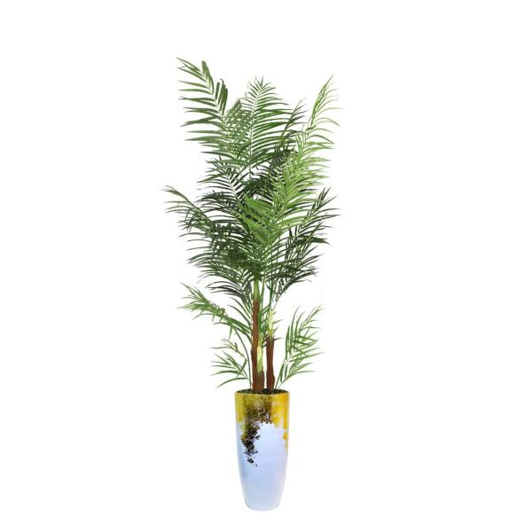 Laura Ashley 97.5 in. Palm Tree Artificial Faux Dcor in Resin