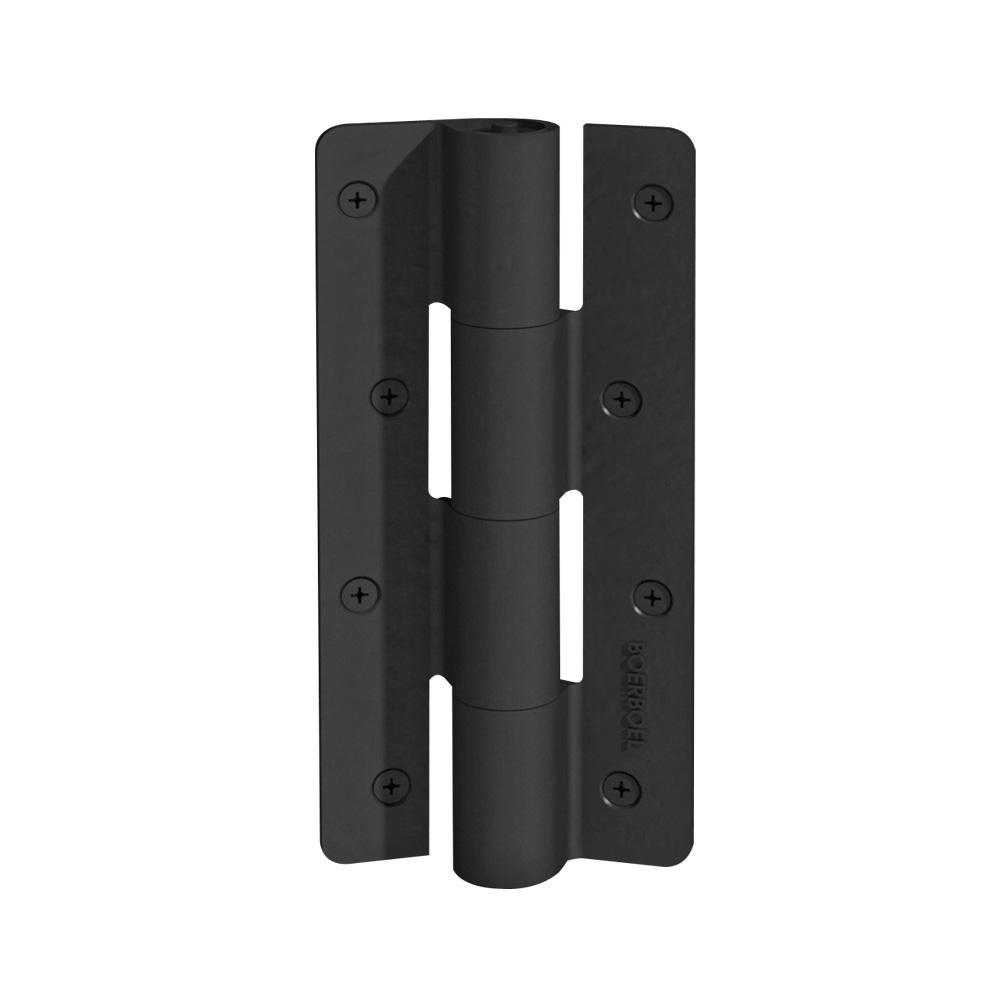 2.5 in. x 9.5 in. Aluminum Black Heavy-Duty Butterfly Hinge (2-Pack)