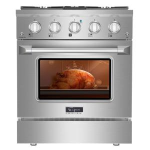 30 in. 4.2 cu. ft. Gas Range with 4 Sealed Ultra High-Low Burners in Stainless Steel