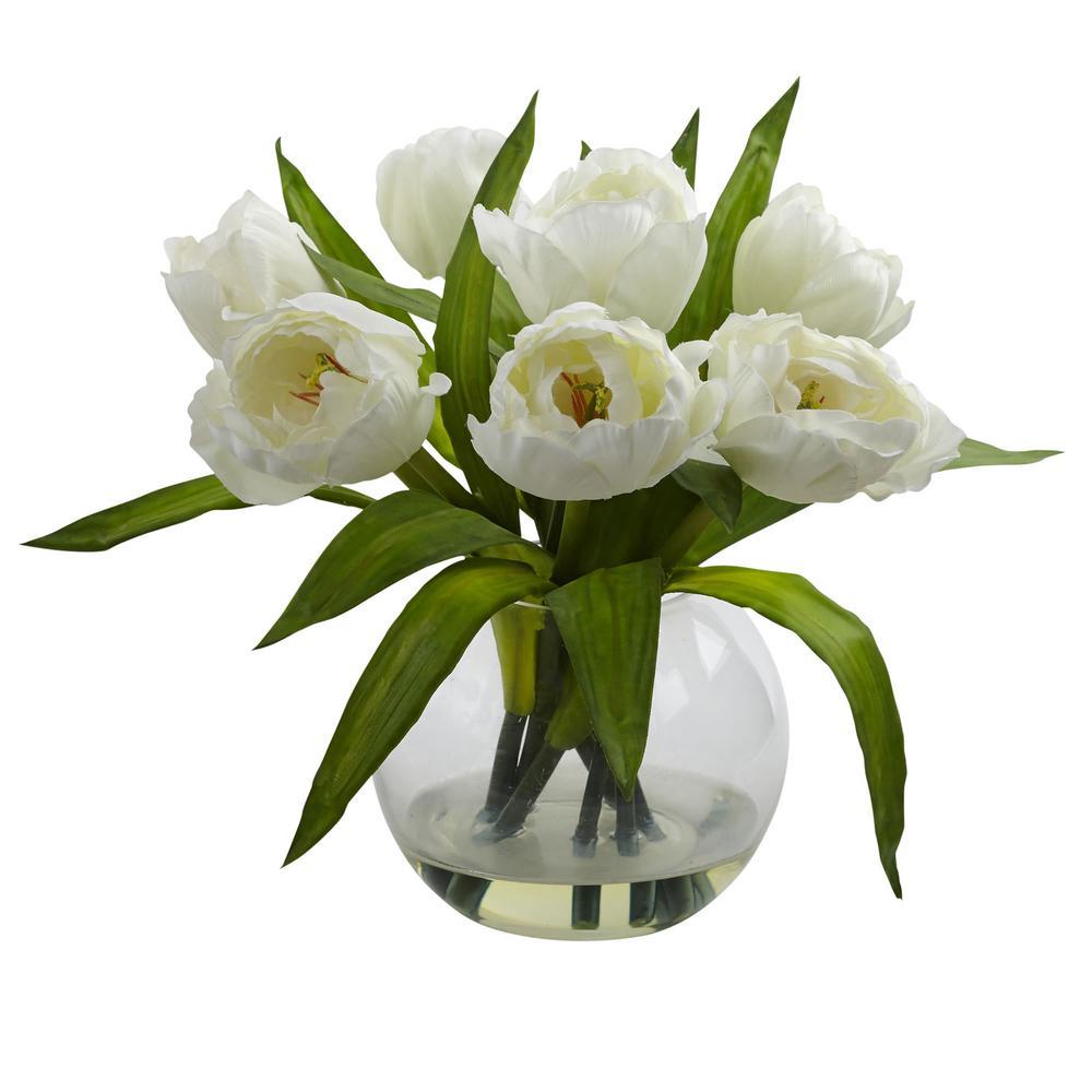 11 in. Tulips Arrangement with Vase