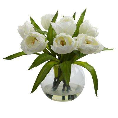 11 in. Tulips Arrangement with Vase