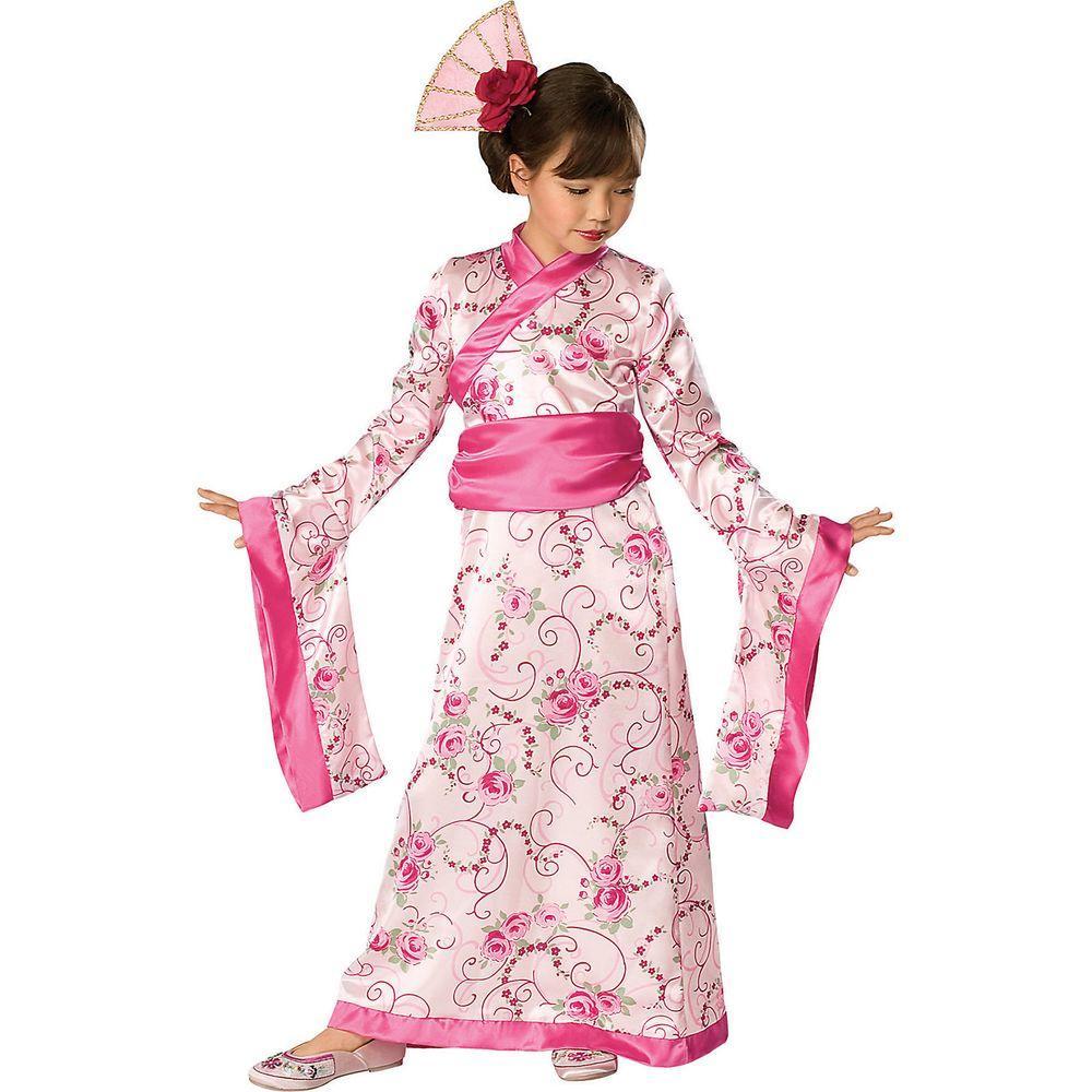 Medium Girls Asian Princess Kids Costume
