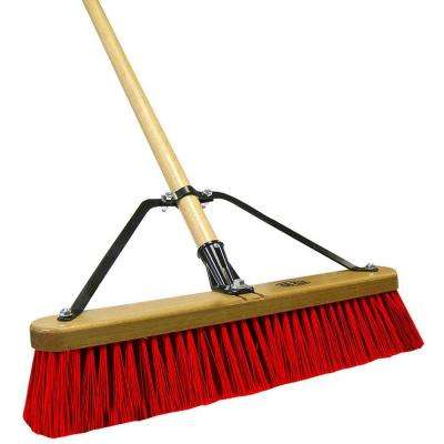 Job Site 18 in. Stiff Poly Pushbroom-Set Up (Case of 2)